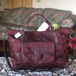 NEW WITH TAG COACH CAMPBELL LARGE SATCHEL